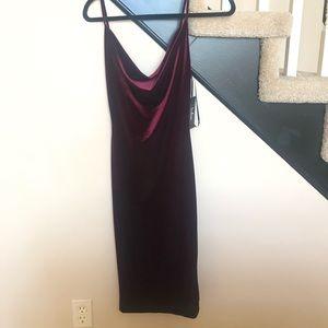 Cowl neck, velvet dress. Never worn